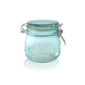 blue kilner jar